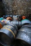 Barilotti di alluminio del sidro della birra Immagini Stock Libere da Diritti