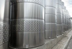 Barilotti di alluminio moderni Fotografia Stock Libera da Diritti