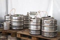 Barilotti di birra Fotografie Stock Libere da Diritti