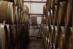 Barilotti di birra della fabbrica di birra della birra Fotografia Stock
