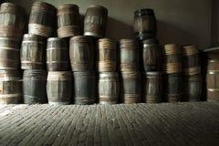 Barilotti di legno Immagine Stock