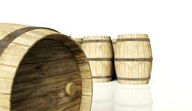 Barilotti di vino illustrazione di stock