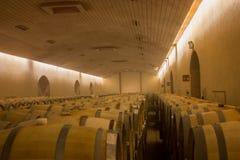 Barilotti di vino della quercia Immagini Stock