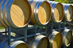 Barilotti di vino della vigna di Queenstown fotografia stock libera da diritti