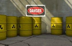 Barilotti radioattivi Immagini Stock