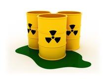 Barilotti radioattivi Fotografia Stock Libera da Diritti