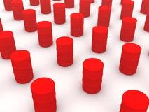 Barilotti rossi Fotografia Stock