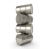 barilotti stabiliti del cromo della rappresentazione 3D Immagine Stock