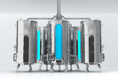 Barilotto del metallo per gli scopi industriali Capacità per produzione e stoccaggio Illustrazione 3d illustrazione di stock