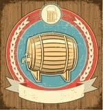 Barilotto dell'insieme di contrassegno della birra illustrazione vettoriale