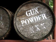 Barilotto della polvere di pistola Immagini Stock Libere da Diritti