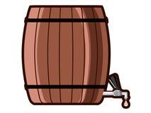 Barilotto di birra con il rubinetto illustrazione di stock