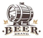 Barilotto di birra d'annata illustrazione di stock