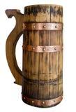 Barilotto di birra isolato su priorità bassa bianca immagine stock libera da diritti