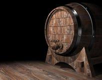 Barilotto di legno Fotografie Stock Libere da Diritti