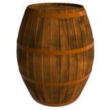 Barilotto di legno, 3D illustrazione vettoriale