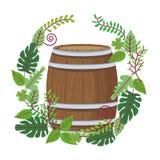 Barilotto di legno del vino royalty illustrazione gratis