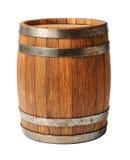 Barilotto di legno della quercia isolato su fondo bianco Fotografia Stock Libera da Diritti