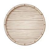 Barilotto di legno di vettore illustrazione di stock