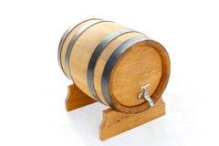 barilotto di legno isolato Fotografia Stock Libera da Diritti