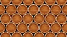 Barilotto di legno Nave per la conservazione vino, birra e della bevanda Illustrazione di vettore royalty illustrazione gratis