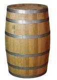 Barilotto di legno su un fondo bianco Immagine Stock Libera da Diritti