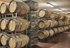 Barilotto di legno tradizionale per il vino rosso dell'Italia Fotografia Stock