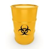 barilotto di rischio biologico della rappresentazione 3D illustrazione di stock