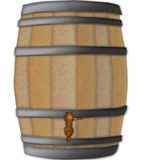 Barilotto di vino Fotografie Stock