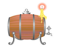 barilotto di vino royalty illustrazione gratis