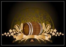 Barilotto di vino della birra del kvas Fotografia Stock Libera da Diritti