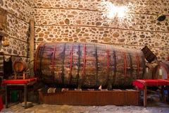 Barilotto di vino enorme fotografie stock