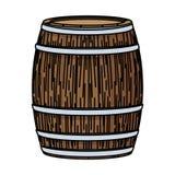 Barilotto di vino di legno illustrazione vettoriale