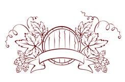 Barilotto e luppolo royalty illustrazione gratis