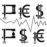 Barilotto in morsetto, concetto finanziario Fotografia Stock