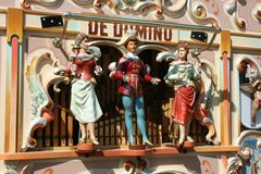 Barilotto-organo variopinto a Amsterdam Fotografie Stock Libere da Diritti