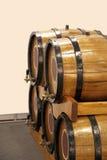 Barils avec du vin Photos stock