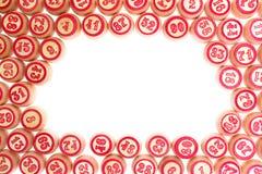 Barils, avec les numéros pour jouer le loto Images stock