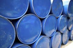Barils bleus Image libre de droits