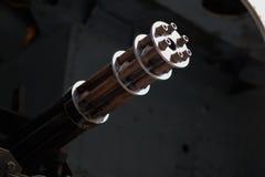 Barils d'une mitrailleuse gatling de type Images stock