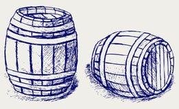 Barils de bière Images libres de droits