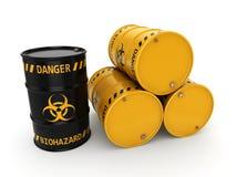 barils de biohazard du rendu 3D Photo stock