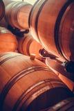 Barils de vin dans la cave photographie stock