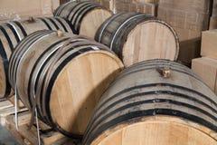 Barils de vin de chêne Photo libre de droits