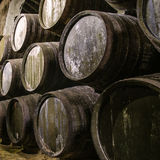 Barils de whiskey ou de vin images libres de droits