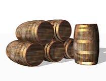 Barils en bois, objet Images libres de droits