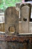 Barils en bois pour le vin Image stock