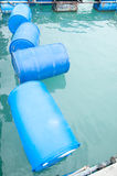 Barils en plastique vides Photo libre de droits