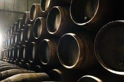 Barils pour le whiskey ou le vin Photos libres de droits