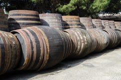 Barils pour le whiskey ou le vin Image stock